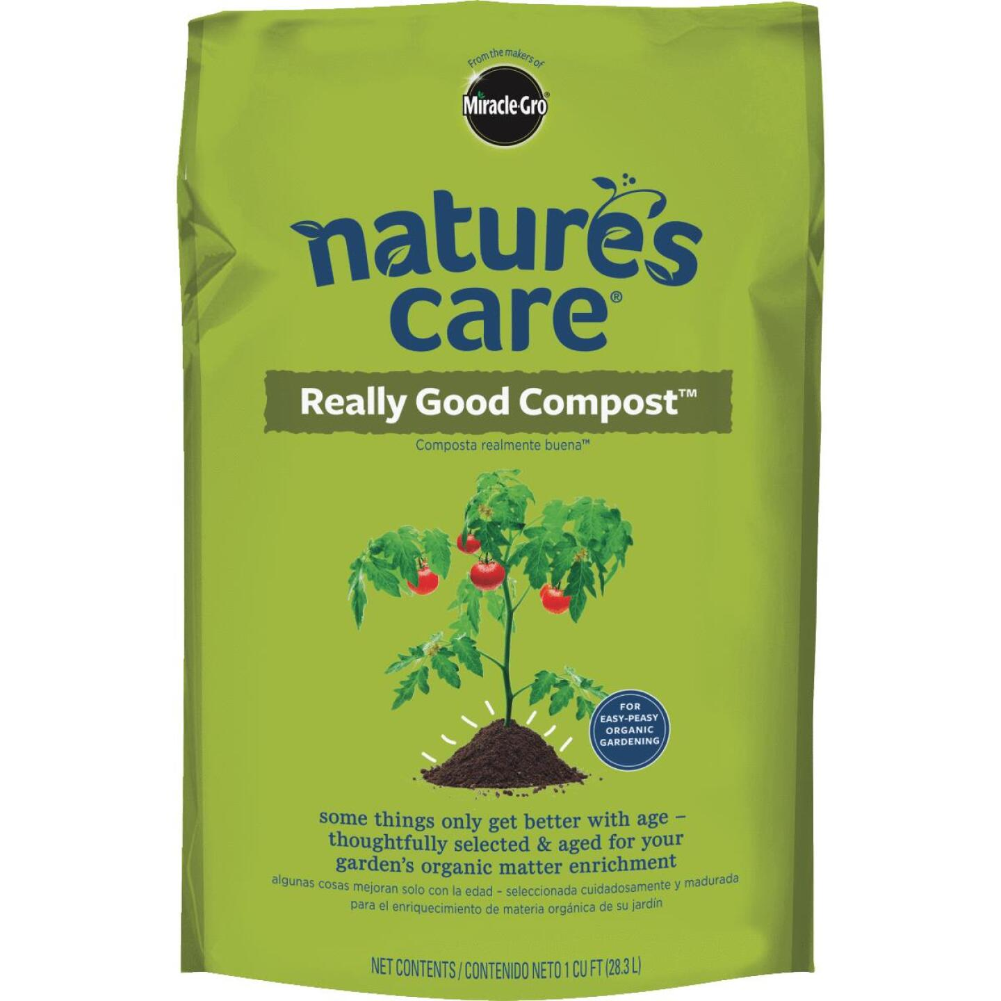 Miracle-Gro Nature's Care 1 Cu. Ft. 36 Lb. Organic Lawn & Garden Compost Image 1