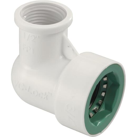 Orbit 3/4 In. x 1/2 In. FPT PVC-Lock Elbow