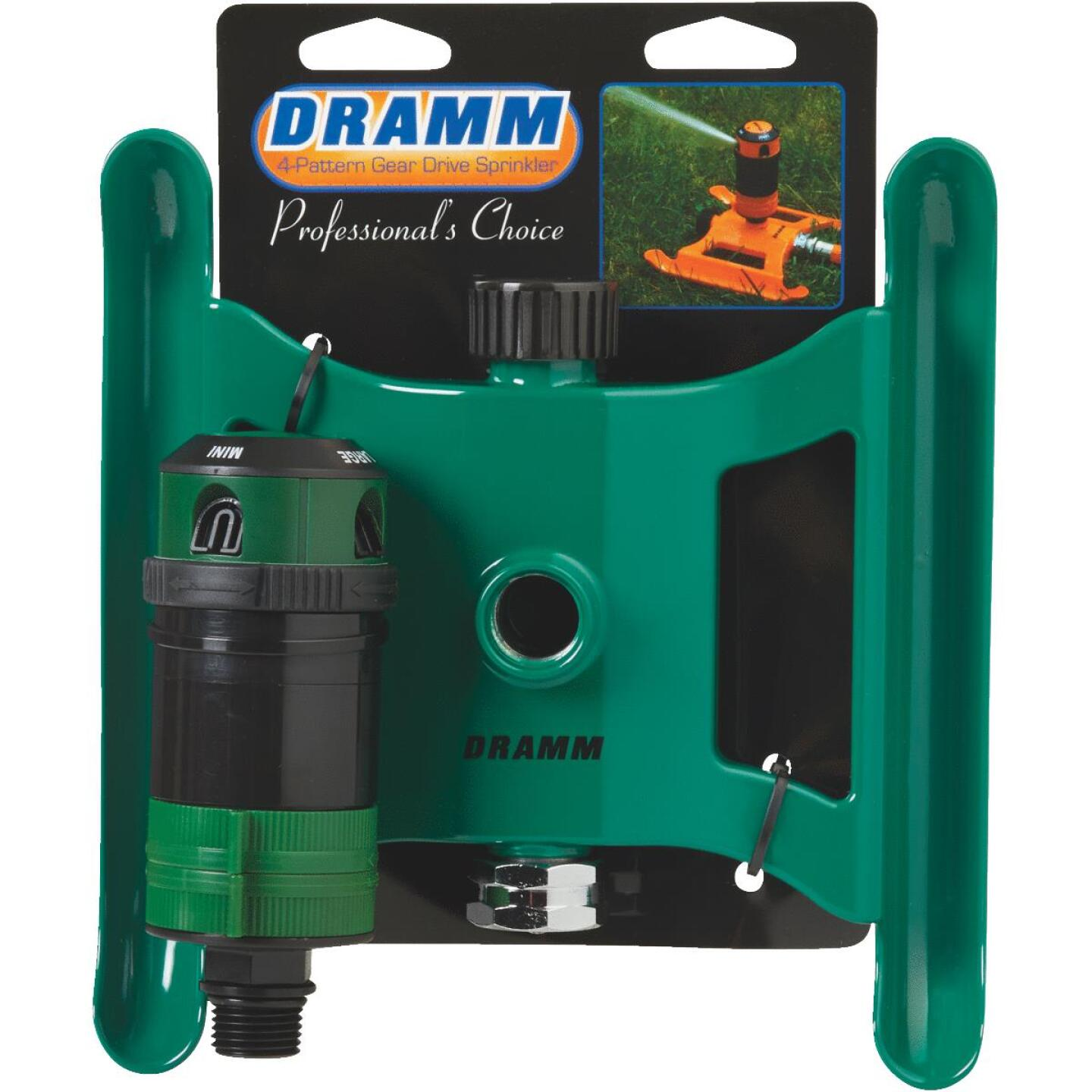Dramm Metal Adjustable Green Gear Drive Sprinkler Image 2