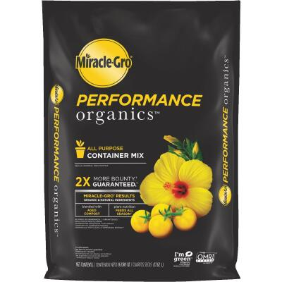 Miracle-Gro Performance Organics 16 Qt. 15-3/4 Lb. All Purpose Container Potting Soil