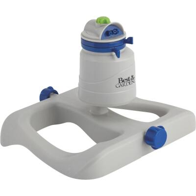 Best Garden Poly 70 Ft. Dia. Blue & Gray Gear Drive Sprinkler
