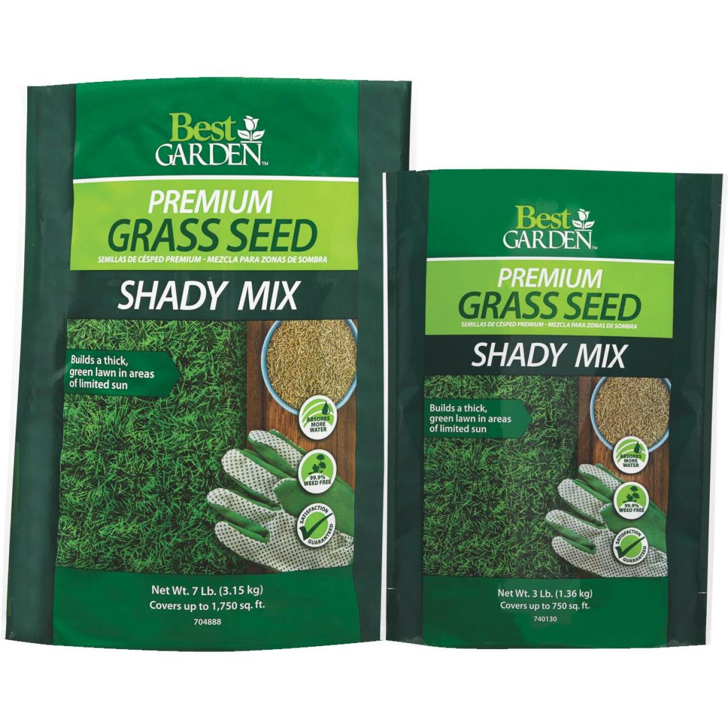Best Garden 3 Lb. 900 Sq. Ft. Coverage Shady Grass Seed Image 2