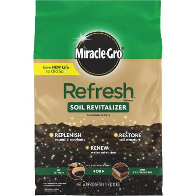Miracle-Gro Refresh 4.7 Lb. Soil Revitalizer Conditioner (CA, IL, FL Approved)