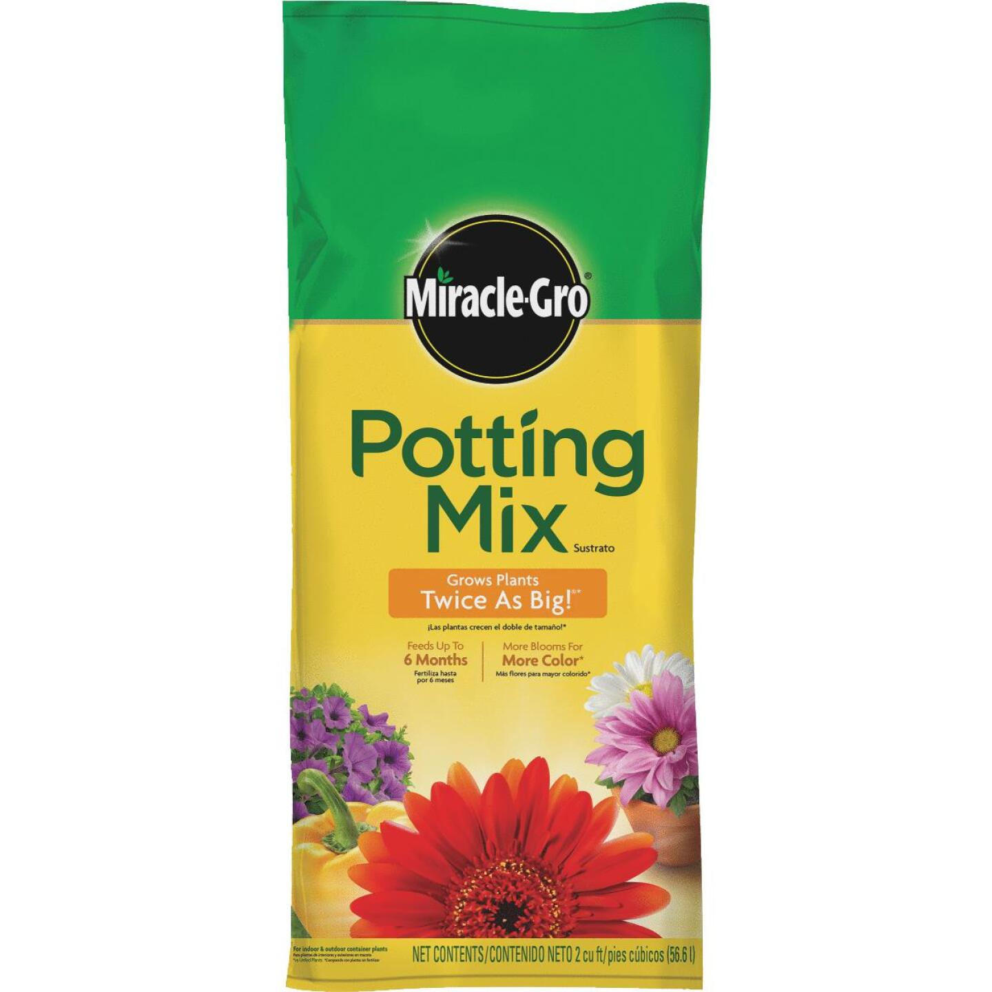 Miracle-Gro 2 Cu. Ft. 40-1/2 Lb. All Purpose Indoor & Outdoor Plants Potting Soil Image 1